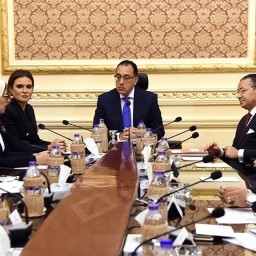 Egyptian prime minister and health minister in discussions with GK Investment Holding Group in Cairo