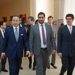 Royal guests from the Emirate of Sharjah on official visit to San Donato and San Raffaele University research hospital