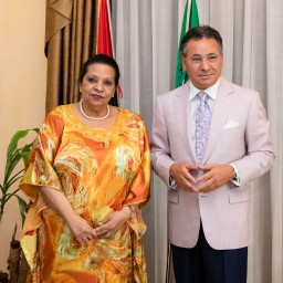 Discussions held between Kamel Ghribi and H.E. Maria de Fátima Domingas Jardim ambassador of Angola to Italy